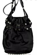 Alexander Wang diego Calf Hair Bucket Bag Black Studded