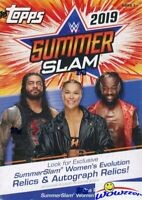 2019 Topps WWE Wrestling SummerSlam EXCLUSIVE HUGE Factory Sealed Blaster Box!