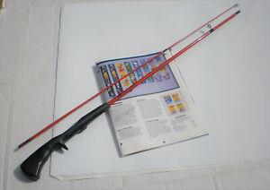 VINTAGE ZEBCO BULLFROG ROD FROM COMBO(1606)! ELECTRIC ORANGE! ~ 1993 MODEL!