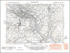 Maesteg, old map Glamorgan 1947: 26SW repro Wales