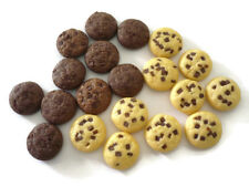 10 Loose Miniature Chocolate Chip Biscuits Dollhouse Miniatures Food Bakery Deco