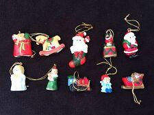 MINIATURE VINTAGE CHRISTMAS TREE ORNAMENTS LOT BY RUSS BERRIE MINI