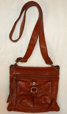 FOSSIL LONG LIVE VINTAGE SASHA LEATHER CROSSBODY  WHISKEY BROWN