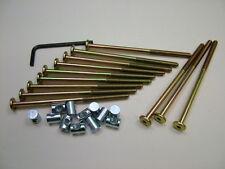 Lit/COT Bolts 12 Sets of M6 X 120 Mm Boulon, Allen Clés & 14 mm Baril Écrou = 25 objets