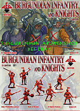 1:72 FIGUREN 72109 Burgundian Infantry and Knights 15 Century SET 1 - REDBOX NEU
