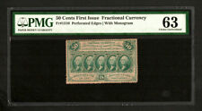 FR 1310 - 50 Cent 1st Issue Fractional Currency - PMG 63 Choice Unc (C6)
