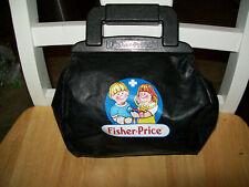 VTG. Fisher Price Medical BAG Doctors Black Bag W/ Instruments,some replaced