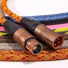 Mogami 2534 Balanced XLR to XLR Lead. Braided Cable. Neutrik Copper & Gold