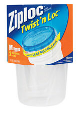 Ziploc Twist N Lock 32 oz. Food Storage Container 2 pk Clear