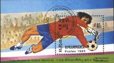 Cambogia Bloque 142 (edición completa) usado 1985 Fútbol-WM 1986, Mexico