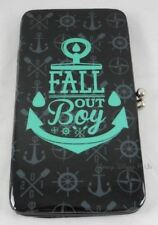 New Fall Out Boy Band Anchor Logo Kisslock Hinge Wallet Card Tote Clutch