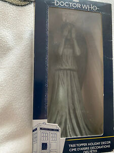 Doctor who  Grey  Colour   weeping angel  Christmas tree  Topper figure