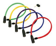 Candado de ACERO con LLAVE 58 cm Forrada de PVC para Bicicleta Color ROJO 3846rj