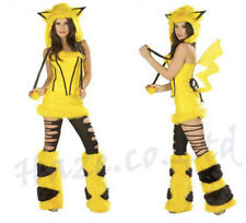 Halloween Ladies Anime Pikachu Pokemon Fluffy Cosplay Party Fancy Dress PRETTY