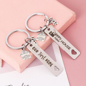 Home Lovers Key Ring Our First Home/Happy New House Keychain Stainless Penda TC