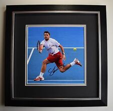 Stanislas Wawrinka SIGNED Framed LARGE Square Photo Autograph display Tennis COA