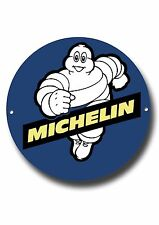 "MICHELIN MAN 11 ""Pollici Rotondo Metallo sign.classic British tyres.garage WALL SIGN."