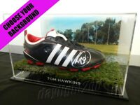✺Signed✺ TOM HAWKINS Football Boot PROOF COA Geelong Cats 2020 Jumper AFL