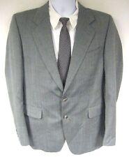 John Papalois Men's Sport Coat Jacket Gray Two Button Size 40R 40 Regular