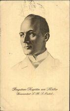 German Military En. Bruncker WWI c1914 Postcard Kapitan von Muller