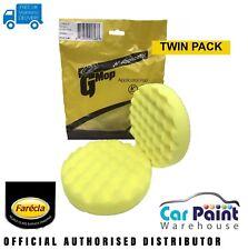 "Farecla G Mop Head 6"" 150mm Yellow Waffle Pad 2pk Hook & Loop CFY612 Gmop"