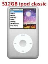 NEW 512GB Apple iPod Classic 7th Gen Silver/White SSD Flash Drive Upgraded 160GB
