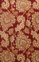 Floral Paisley Oriental Area Rug Hand-Tufted Wool Living Room RED Carpet 8x11 ft