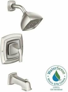 Moen Hensley 1-Handle 1-Spray Tub Shower Faucet in Spot Resist Brushed Nickel