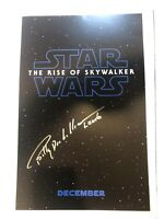 Billy Dee Williams Autographed The Rise Of Skywalker 11x17 Poster