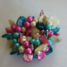 vintage mother of pearl streachy bracelet