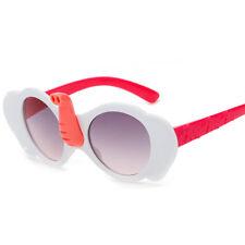 Children Girl Cartoon Sunglasses UV400 Elephant Cute Glasses Kids White Frame