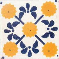 Mexican Tile sample Ceramic Handmade 4x4 inch GET MANY AS YOU NEED !! #C044