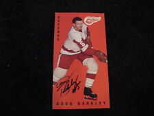BEAUTIFUL Doug Barkley Autographed Parkhurst Tallboy Card, Detroit Red Wings!