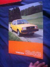 1977 Volvo 343 Color Brochure Prospekt