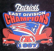 NEW ENGLAND PATRIOTS 1997 AFC EAST CHAMPIONS Comm Series Pin Willabee & Ward