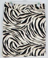 Ann Taylor Loft Womens Skirt Size 4 Animal Print White Black Tan Lined