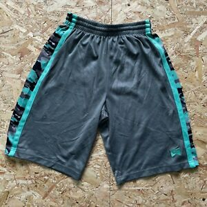 Boy's Grey & Turquoise Nike Basketball Style Gym Shorts Ages 12-13 Years L