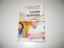 Lernen zu lernen von Martin Schuster und Werner Metzig (2009, Taschenbuch)