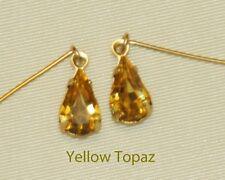 Yellow Topaz Rhinestone Earrings Fashion Doll Cissy Vintage Miss Revlon Toni Sue