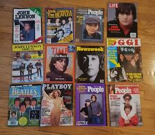 The Beatles John Lennon death magazine collection of 12. Newsweek, Life