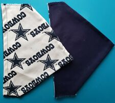 DALLAS COWBOYS NFL HOMEMADE 2 SIDED DOG SCARF  (PICK SIZE)
