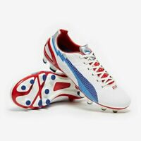 BRAND NEW BOXED PUMA evoSPEED 3 FG Boots White/Limoges Blue/red SIZE UK 8.5.