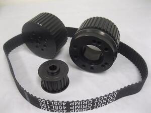 Small Block Ford Mercury Black Gilmer Belt Drive Kit 289 302 351 Windsor SBF V8