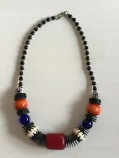 Ethnic tribal African Kenyan Masai jewelry necklace with COPPER BEADS.