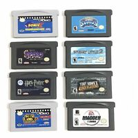 Nintendo Game Boy Advance games LOT OF 8 - Tested - Harry Potter, Sonic X +6