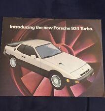 Original Porsche 924 Turbo Showroom Sales Brochure
