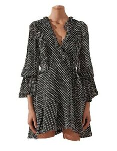 Shona Joy Ruffle Mini Dress Size 10