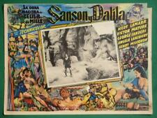 SAMSON AND DELILAH VICTOR MATURE HEDY LAMARR BEAUTIFUL ART MEXICAN LOBBY CARD