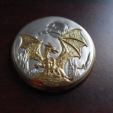 Franklin Mint Gold Silver Dragon Pocket Watch Prototype Sample Lid Cover