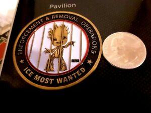 RARE GROOT REMOVAL TRUMP PARADY ON ICE ALIEN REMOVAL 49OF 50 CHALLENGE COIN
